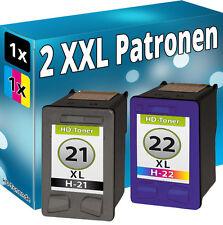 TINTE PATRONEN für HP 21+22 XL DESKJET F2100 F2110 F2120 F2180 F2224 F2280