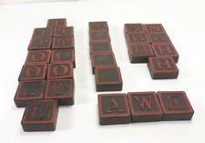 27 Vintage Black Wood Anagram Game Letter Tiles