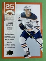 2018-19 Upper Deck Series 1 25 Under 25 #U25-1 Connor McDavid Edmonton Oilers