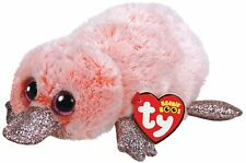 """TY WILMA THE PINK PLATYPUS BEANIE BOO 6"""" SOFT TOY PLUSH WITH HEART TAG AGE 3+"""