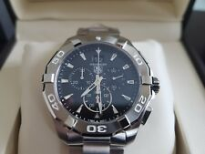NEW TAG HEUER Aquaracer Black Dial 43mm Chronograph Men's Watch CAY1110.BA0927