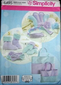 Simplicity 4495 Spa Accessories Tote Bag Bath Pillow Mitt ++ Sewing Pattern FF