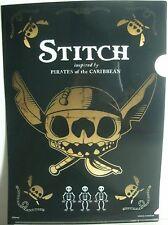 Lilo & Stitch Pirates of the Caribean A4 Plastic File Folder Flat Open Top Side3