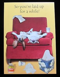 Oatmeal Studios Greeting Card Get Well Humor Funny Care Sick Multi Color R325