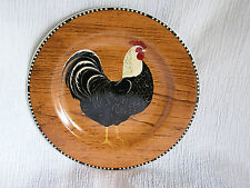 Sakura Retro Rooster Warren Kimble Brown Country French Kitchen Plate Dish CUTE!