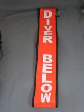 Diver Below Safety Signal - Orange Buoy Floating Sign 72 Inch for Scuba Diving
