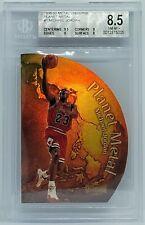 Michael Jordan 1998-99 Skybox Metal Universe Planet Metal Die-Cut BGS 8.5 NM-MT+