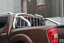 ROLL BAR + GRILLE DE PROTECTION, NISSAN NAVARA 2016-DIAM 76,