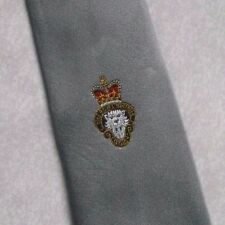 ROYAL BRITISH LEGION TIE  CLUB ASSOCIATION 1970s 1980s VINTAGE SILVER GREY RETRO