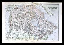 1883 Blackie Map - British North America - Dominion of Canada - Ontario Quebec