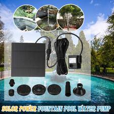 Solar Panel Power Submersible Fountain Pond Water Pump Kit Garden Pool Watering