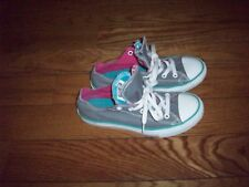 Low Top Gray/PinkAqua Shoes Double Tongue All Star  CONVERSE Junior Size 3.