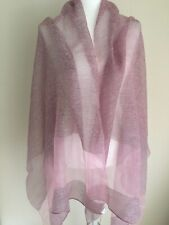 New and Authentic Max Mara Weekend Wool/Silk Pink Stole. MSRP $125.00