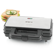 2 SLICE XL SANDWICH TOASTER NON STICK PLATES GRIDDLE TOASTIE MAKER 900W STAINLES