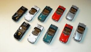 Job Lot B Cararama 1:43 MGB Cabriolet Convertible Diecast Models - Unboxed