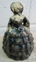 SOUTHERN BELLE Antique Cast Iron Woman in Dress Doorstop Figural Solid Heavy