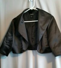 White House Black Market Black Satin Formal Crop Jacket 14