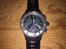 Orologio Watch Montre AQUAMARIN - Sea Star - Black Steel Leather - NO FUNZIONA
