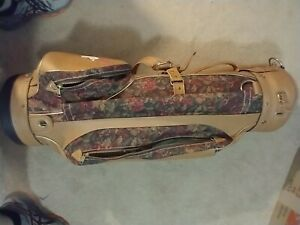 Vintage Hot-Z Pro Leather/Canvas Golf Bag w/ Cover - Made In USA