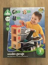 ELC Early Learning Centre Big City Wooden Garage Inc 2 Vehicles - New RRP £60