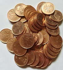 Roll of 1998 Canada Small Cents (UNC RED 50 Coins) (RR160)
