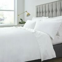 LUXURY HOTEL QUALITY FLAT SHEET 100% POLY COTTON SINGLE DOUBLE KING BED SHEET