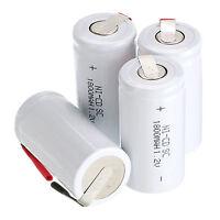 3 PCS Sub C SC 1.2V 1800mAh Ni-Cd NiCd Wiederaufladbare Batterien Akkus - Weiß