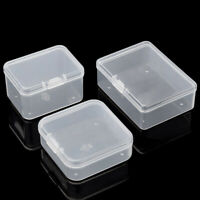 10 Pcs Clear Plastic Storage Box Small Jewelry Organizer Case Container Tools US