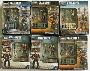 NIP Lot of 6 MEGA Construx Call of Duty Weapon Crates WWII, Navy, Desert Tactics