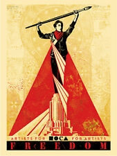 ARTISTS FOR FREEDOM shepard fairey MOCA Los Angeles obey giant  **SOLD OUT**