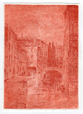 [Etienne BOSCH] Etching with plate: Venice canal