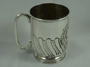 PRETTY EDWARDIAN silver CHRISTENING MUG, 1901, 128gm