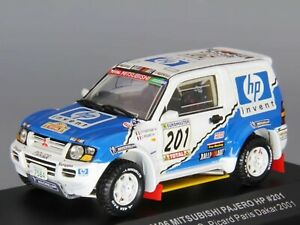 WOW EXTREMELY RARE Mitsubishi Pajero Gen3 Evo #201 Dakar 2001 1:43 Vitesse-Spark