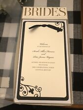 Brides Magazine Wedding Collection Black & Ivory Printable Programs 40 Count