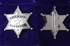 ONE TIME DEAL Andy Griffith Show SHERIFF Mayberry Badge prop type