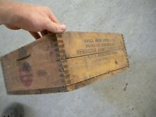 Vintage Remington Arms Co. Umc Wood Small Arms Ammo Advertising Ammunition Box
