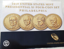 2015 Uncirculated 4 pc. Philadelphia Presidential Dollar Set
