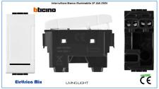 Interruttore Pulsante Presa Deviatore Schuko Bianco Compatibile Bticino Living