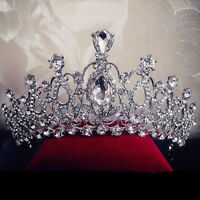EP_ Women Rhinestone Crown Princess Bride Headband Tiara Wedding Headwear Jewelr