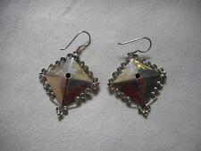 Vintage sterling Egyptian revival large earrings