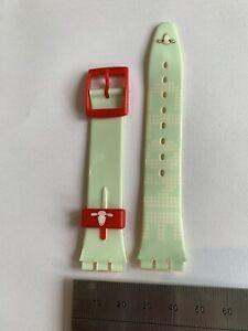 010 Swatch 17mm watch strap Plastic 'Clone'