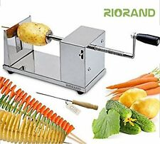 Kitchen Manual Stainless Steel Twisted Potato Slicer Spiral Vegetable Cutter