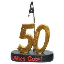 Kartenhalter Geburtstagszahl 50 Dekoration zum 50. Geburtstag Tischdeko Party