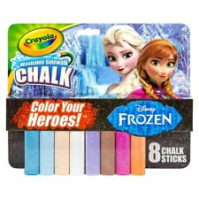 Crayola® Washable Sidewalk Chalk 8ct - Disney Frozen Themed New