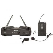 PROEL WM202H (uhf) sistema microfono lavalier + headset wireless x feste karaoke