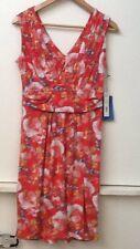 NEW SIMPLY VERA BY VERA WANG Floral Print DRESS SAHARA ROSE Sleeveless Size M