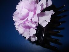 LARGE HAIR CLAW WITH DOUBLE MAUVE FLOWERS