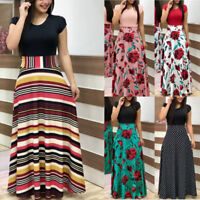 One-Piece Fashion Women Maxi Dress Casual Vintage Long Dresses