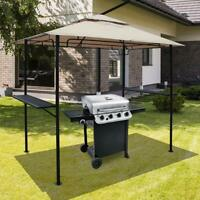 8' x 5' Outdoor BBQ Grill Gazebo Grill Tent Barbecue Canopy with 2-Tier Soft Top