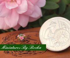 1:144 SCALE HANDMADE MINIATURE DOLLHOUSE ELEGANT PINK ROSE FLOWER ARRANGEMENT